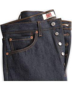 Levi's 501 Jeans - Original Shrink-to-Fit, Indigo Shoes With Jeans, Jeans Fit, Jeans Pants, Denim Jeans Men, Levis Jeans, 501 Levis Mens, Denim Vintage, Mode Jeans, Japanese Denim
