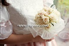 Our 2013 Flower Girl Dress Of The Year - Special Wedding from the Regal Collection - Princess Alexandra - in Pink and Ivory Flower Girl Wreaths, Flower Girl Crown, Flower Girl Dresses, Wedding Of The Year, Princess Alexandra, Bridal Bouquets, Bride, Wedding Dresses, Lady
