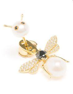 Boucle d'oreille perle abeille - Boucles d'oreilles - Bijoux