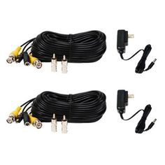 Cctv camera bnc female to bnc f coupler cable converter connector 2 pack 50 feet security camera cable extension video power cord wire all in one pre made bnc connector and 2 pack security camera power supply for cctv dvr publicscrutiny Image collections