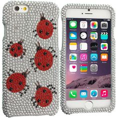 Lady Bug Bling Rhinestone Case Cover for Apple iPhone 6 Plus 6S Plus (5.5)