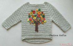 crochelinhasagulhas: Blusa em crochê para criança customizada com botõe...