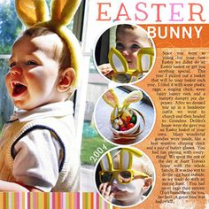 Circled Pics Easter Page - love the journaling idea ... the page is simple but has movement.