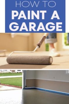 Learn how to paint your garage floor! Paint and sealed garage floors are amazing! DIY with these great tips! Painted Floors, Painted Furniture, Diy Furniture, Home Improvement Projects, Home Projects, Mustang, Garage Boden, Garage Floor Paint, Garage Flooring