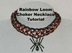 Rainbow Loom Choker Necklace Tutorial