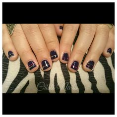 Nails moradas y cintas!