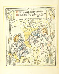 Image taken from page 24 of 'Queen Summer; or, the Tourney of the lily & the rose. Penned & portrayed by Walter Crane' | by The British Library