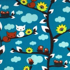 Image of Spring Cats organic cotton jersey (by the half metre)