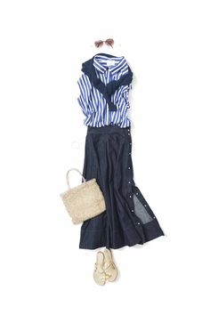 Pin on ファッション Capsule Outfits, Mode Outfits, Fashion Outfits, Womens Fashion, Look Casual Otoño, Classy Outfits, Trendy Outfits, Long Skirt Fashion, Looks Jeans