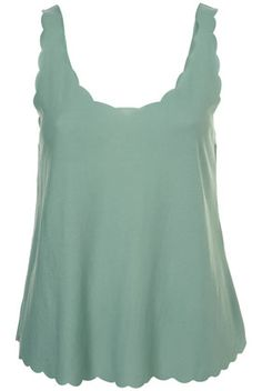 LOVE this scallop tank in mint *favorite spring color*