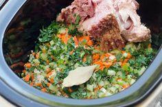 The BEST method to create creamy, delicious split pea soup! ~ http://www.fromvalerieskitchen.com