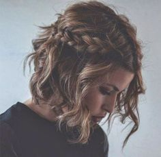 Try this braided beach curl look for your dinner out after hitting the beach all day.