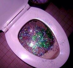 I love glitter. But this? This looks like a rare and terrifying medical condition.