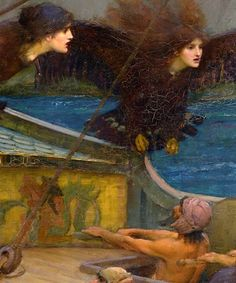 John William Waterhouse, Ulysses and the Sirens (detail)) on ArtStack #john-william-waterhouse #art