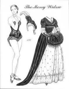 My merry widow takes you through a century of mourning fashions.  Displaying your grief was once a complicated ritual for what you could, or could not wear, when, and how long.  But black must be stylish. 9 pages, $12. To see more, click here  http://www.fancyephemera.com/historicfashion.html#MERRY