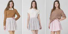 The Seersucker Full Woven Skirt by #AmericanApparel.  #Fall #wovenskirt
