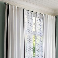Dottie Sheer | PBteen layering curtains sheer and regular