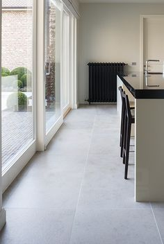 Tilestone Cosmic Grey Flooring, Home Interior Design, New Homes, Updating House, Kitchen Room Design, Kitchen Projects Design, House Architecture Design, Living Room Tiles, Home Deco