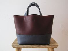 A all hand made leather bag, hand stitched & cut from a exquisite leather skin.