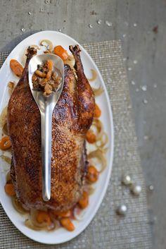 L'oie de Guy Martin, farcie, est le genre de plat que l'on pose avec fierté sur la table, et que chacun mange avec des étoiles dans les yeux.