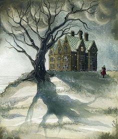 Jeanette Winterson ghost story illustration by Daniela Jaglenka Terrazzini