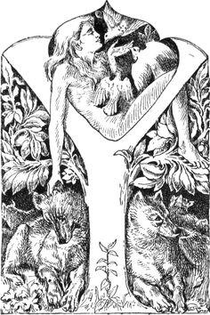 Mowgli-1895-illustration - Niño salvaje - Wikipedia, la enciclopedia libre