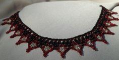 Black,Red & White Woven Seed Beaded Choker   Jenstardesigns - Jewelry on ArtFire