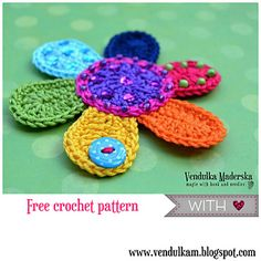 Ravelry: Flower applique pattern by Vendula Maderska