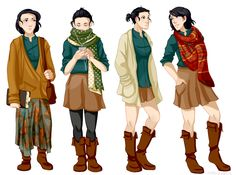 niktropolis: I just started the Raven Cycle (currently on Dream Thieves!) and I saw these outfits and thought of Blue, who I think is probably the cutest dresser ever