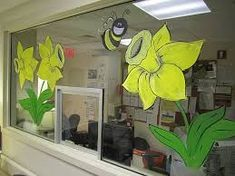 Image result for spring window painting