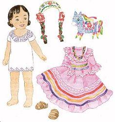 Dover Selena From Mexico Sticker Paper Dolls