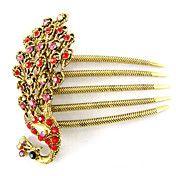 Vintage Schmuck Metall Branchen Haarnadeln für Frauen Hochzeit Haarspange CJ
