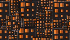Orange Pixel Photoshop Patterns