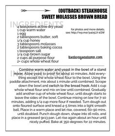 steakhouse sweet brown molasses bread recipe (just like outback!) - It's Always Autumn