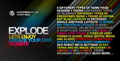 Explode - Corporate, Blog & Portfolio Wp Theme