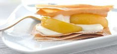 Philadelphia Recipe - Peaches & Philly Mille Feuille