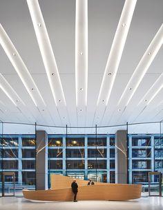 CME Center — Hall + Merrick Hotel Interiors, Office Interiors, Lobby Interior, Interior Architecture, Office Entrance, Office Lobby, Lobby Reception, Futuristic Interior, Kids Room Design