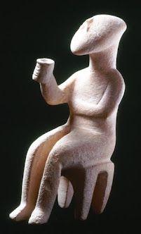 The Cupbearer, Early Cycladic drinking figurine, ca. 3rd- 2nd millenia BCE