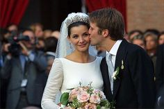 Wedding of Emanuele Filiberto, Prince of Venice and Piedmont, grandson of the last king of Italy and ms Clotilde Courau, a french actress on September 25, 2003 in Basilica of Saint Mary of the Angels in Rome