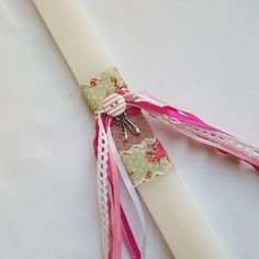 Greek Easter Candles / Lampades / EASTER CANDLE / LAMPADA Easter Candle, Greek Easter, Easter Crafts, Candles, Unique Jewelry, Handmade Gifts, Etsy, Light Bulb Vase, Kid Craft Gifts