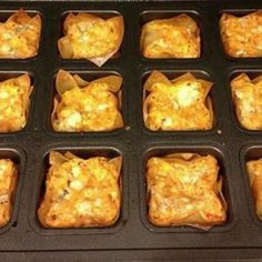 Buffalo Chicken Cups - For football season!