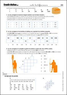 Maths - CM2 - Les chiffres romains