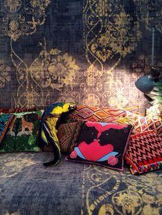#Vintage tapijt dynamische dessin en doorleefde look in het Wanderlust interieur. @Desso Home