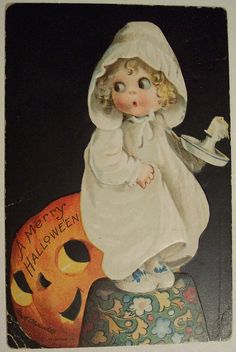 Vintage Halloween Postcard     Ellen H. Clapsaddle