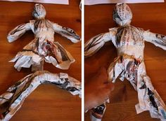 Creative ideas for you: Make a Newspaper Doll