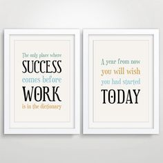 office decor typography posters, inspirational quote art