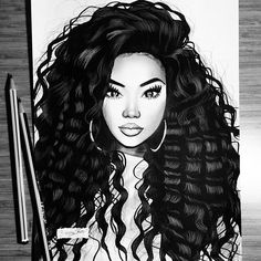 Pin av promyse streater på drawings i 2019 black women art, Drawings, Female Art, Art Girl, Black Girl Art, Black Girl, Art, Magic Art, Black Women Art, Beautiful Art