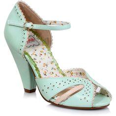 "Women's Bettie Page Melanie 4"" Cone Heel Mint Retro Vintage Rockabilly Pin Up #BettiePageShoes #pumpsshoes"