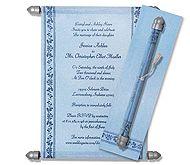 Sky Blue Scroll Invitations Scroll Wedding Invitations, Scroll Invitation, Graduation Invitations, Birthday Invitations, Menu Cards, Table Cards, Money Envelopes, Indian Wedding Cards, Sweet Sixteen Invitations