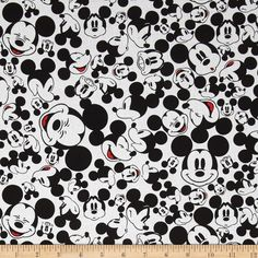 Disney Mickey Say Cheese Many Faces of Mickey White from @fabricdotcom  Designed by Disney and licensed to Springs Creative Group, this cotton print is perfect for quilting, apparel and home decor accents. This is a licensed fabric and not for commercial use.